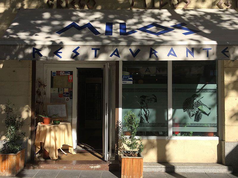 Milos - Restaurante griego en Madrid - Fachada