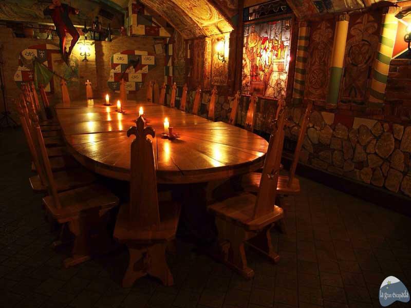 Restaurante medieval Sir Lancelot Budapest - Salón de la mesa redonda