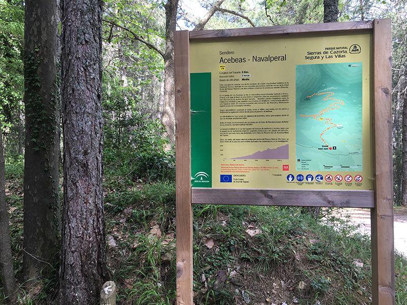 Ruta de senderismo Las Acebeas - Navalperal - Cartel al inicio de la ruta