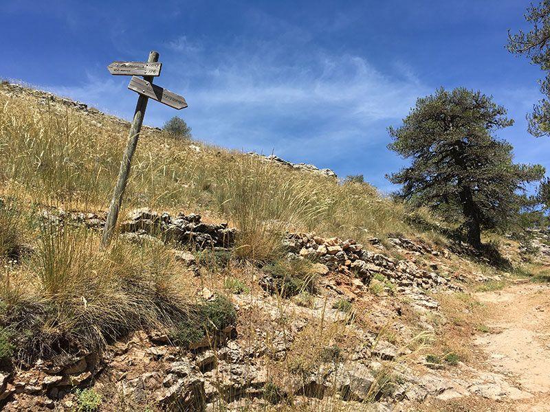 Ruta de senderismo Las Acebeas - Navalperal - Señalización del último tramo