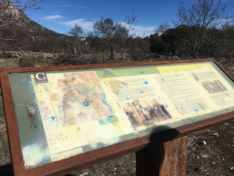 Ruta de senderismo Usos y Oficios Tradicionales - La Cabrera - Madrid - Panel informativo