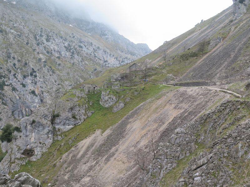 Zona de Los Collaos en la Ruta del Cares, parte más alta
