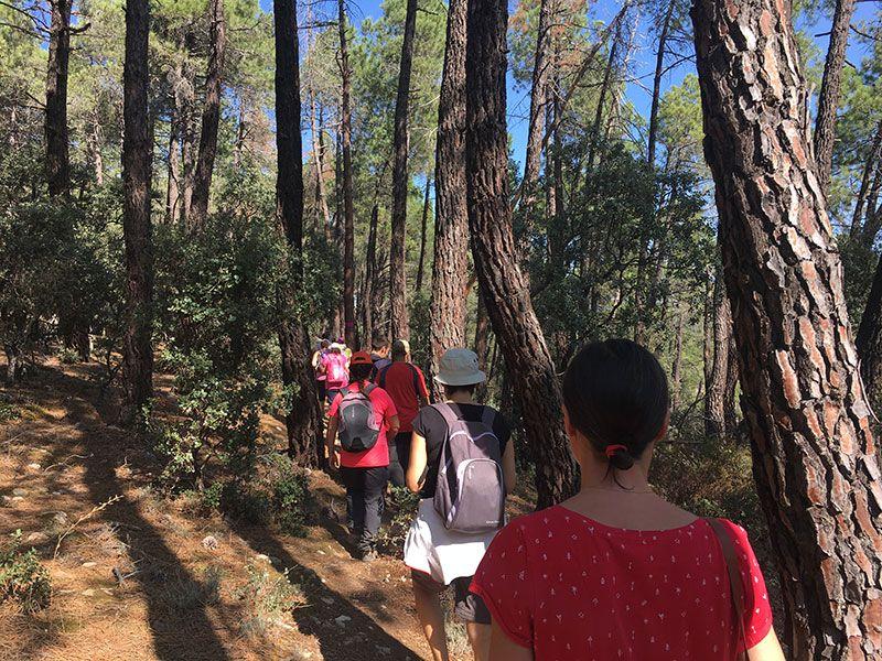 Ruta Frente del Agua - Paredes de Buitrago - Madrid - En fila india