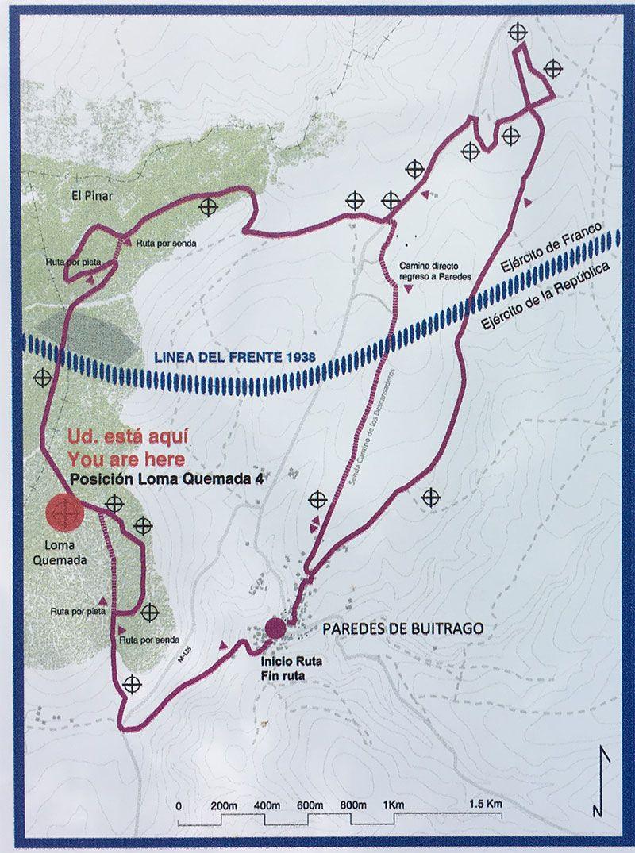 Ruta Frente del Agua - Paredes de Buitrago - Madrid - Mapa
