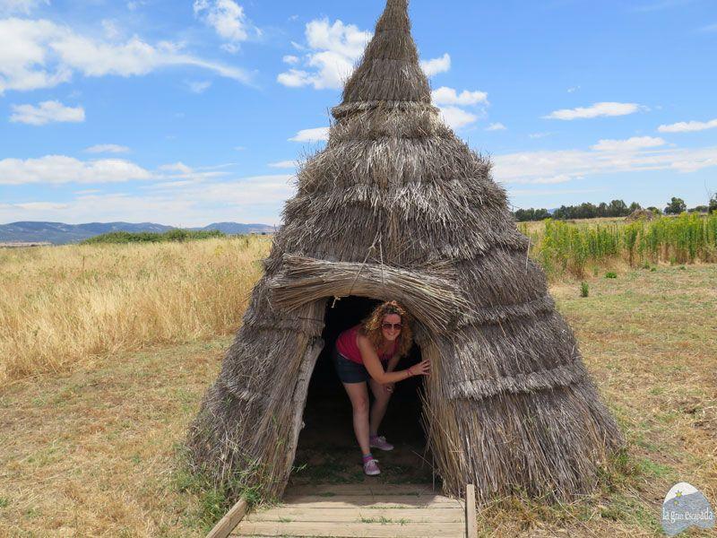 Cabaña típica que constituía la sencilla vivienda de los trabajadores, visita guiada Parque Nacional de Cabañeros