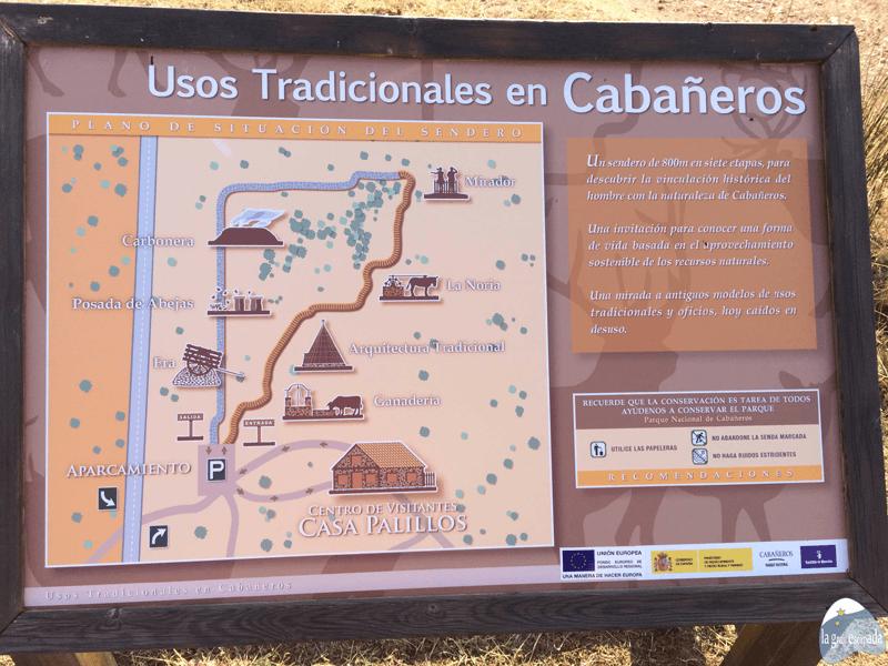 Panel informativo de los Usos Tradicionales de Cabañeros, Visita guiada Parque Nacional de Cabañeros