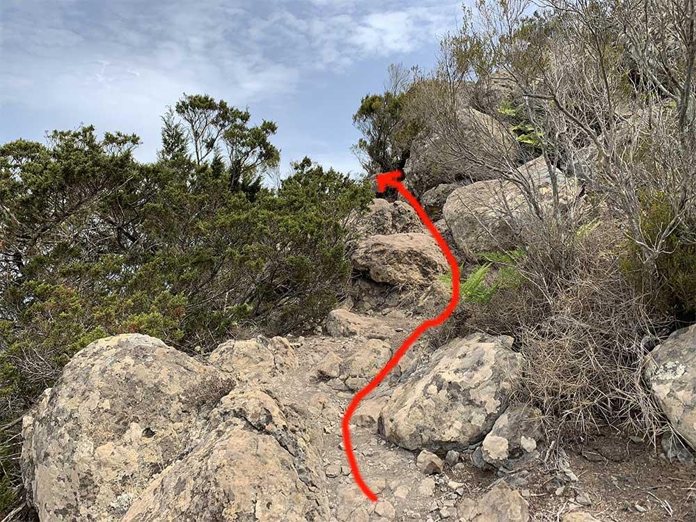 Detalle ruta Montaña Roja