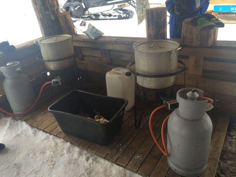 Safari de cangrejo real en Noruega - Utensilios de cocina
