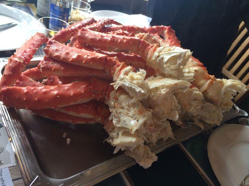 Safari de cangrejo real en Noruega - Patas cocidas