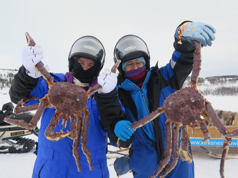 Safari de cangrejo real en Noruega - Selfie doble