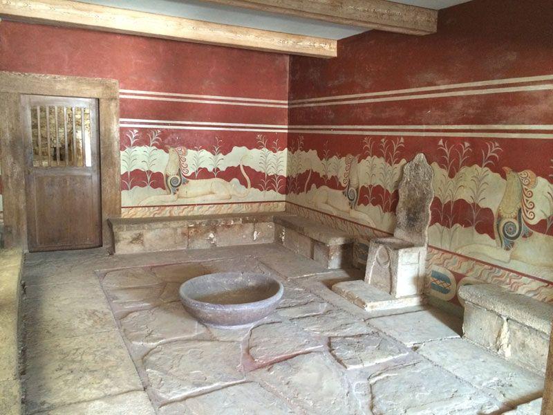 Sala del Trono del Palacio de Knossos