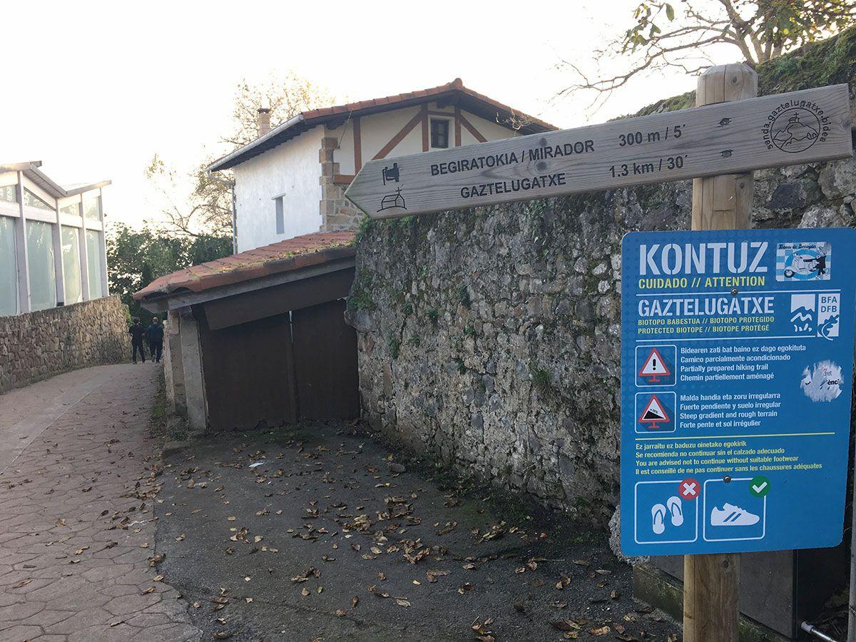 San Juan de Gaztelugatxe - Comienzo del sendero