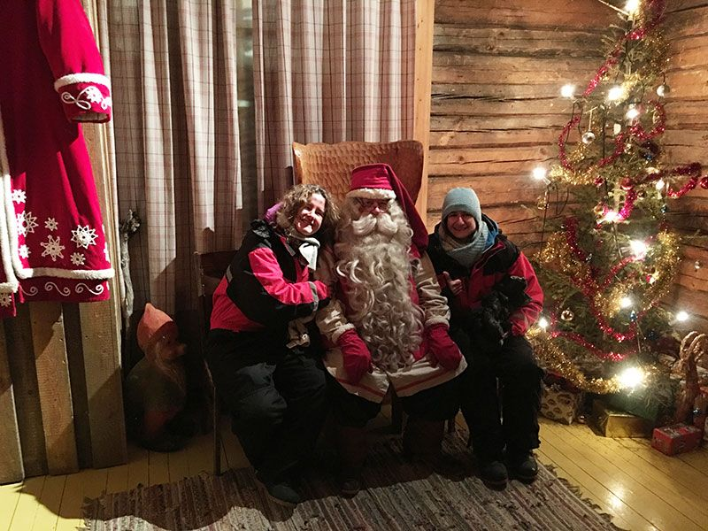 Un día inmersas en Laponia Finlandesa - Papá Noel
