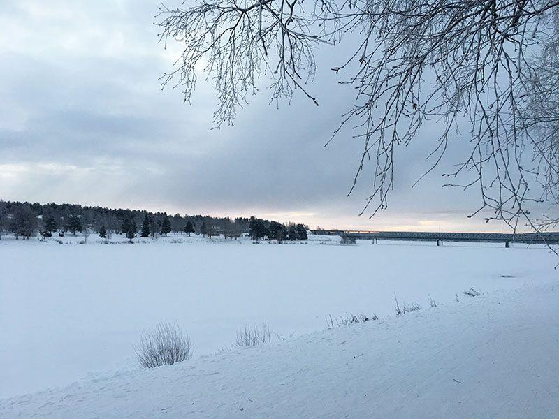 Un día inmersas en Laponia Finlandesa - Río Kemi congelado