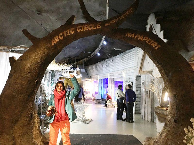 Santa Park - Cueva de los elfos de Papa Noel - Rovaniemi - Línea imaginaria Círculo Polar Ártico