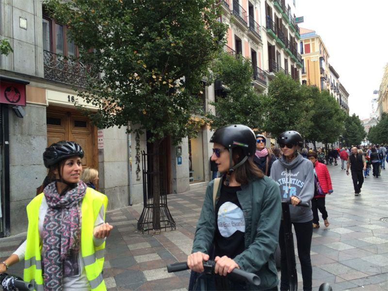 Segway Madrid - Mónica y yo charlando