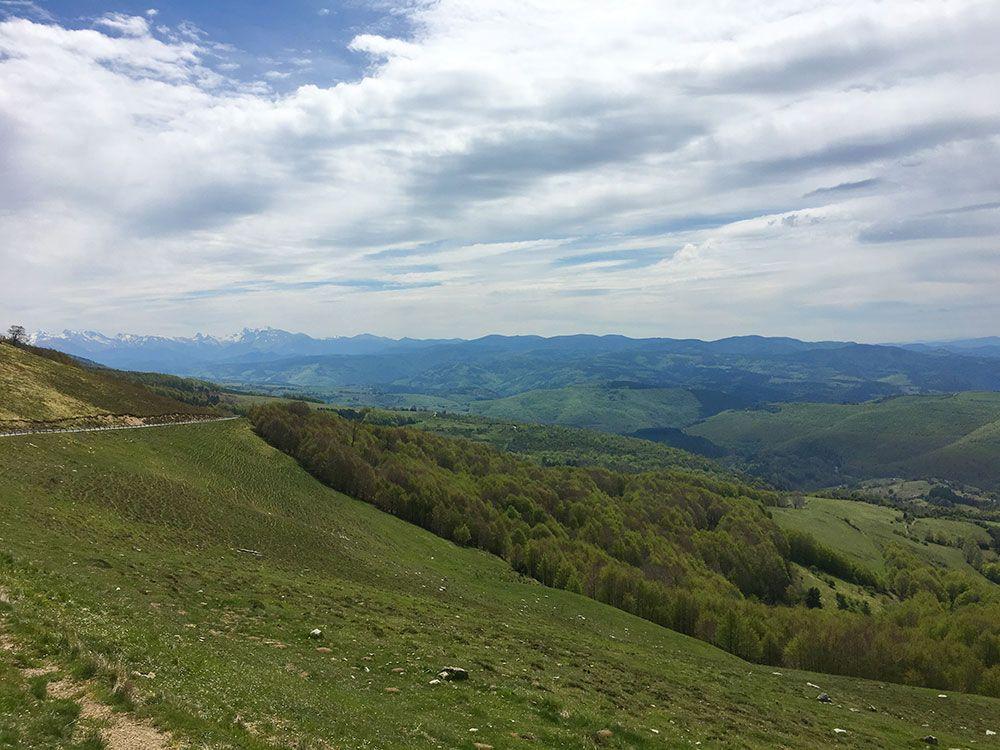 Selva de Irati - Vistas desde la carretera de acceso