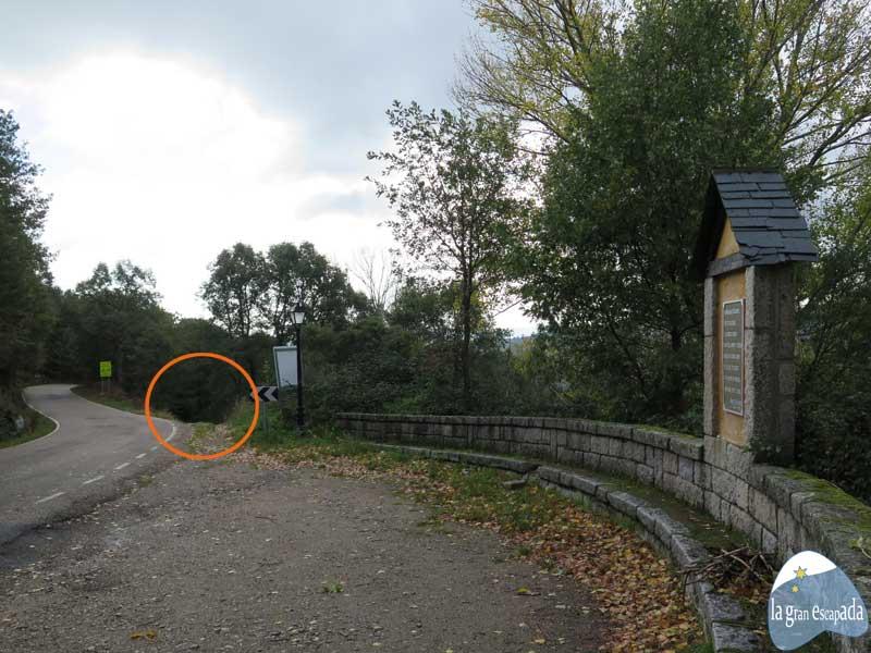 Acceso a la senda para hacer senderismo por el Lago de Sanabria