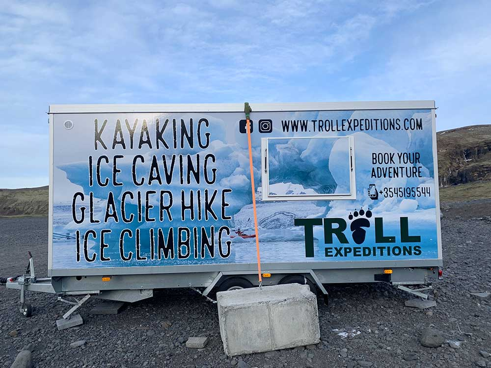 Senderismo por glaciares en Islandia - Sólheimajökull - Contenedor de Tröll Expeditions