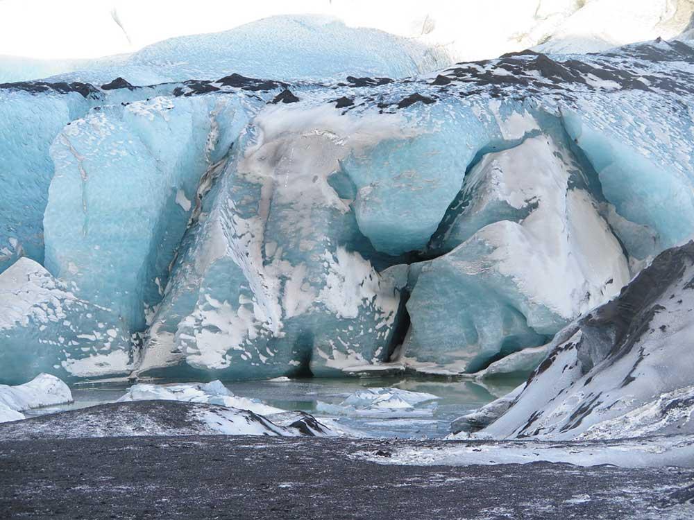 Senderismo por glaciares en Islandia - Sólheimajökull - Detalle