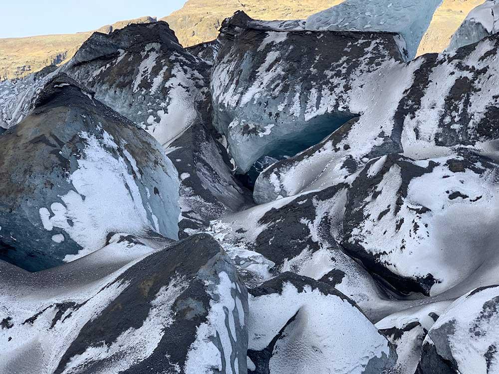 Senderismo por glaciares en Islandia - Sólheimajökull - Formas