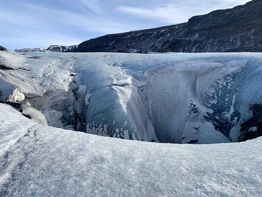 Senderismo por glaciares en Islandia - Sólheimajökull - Hoyo