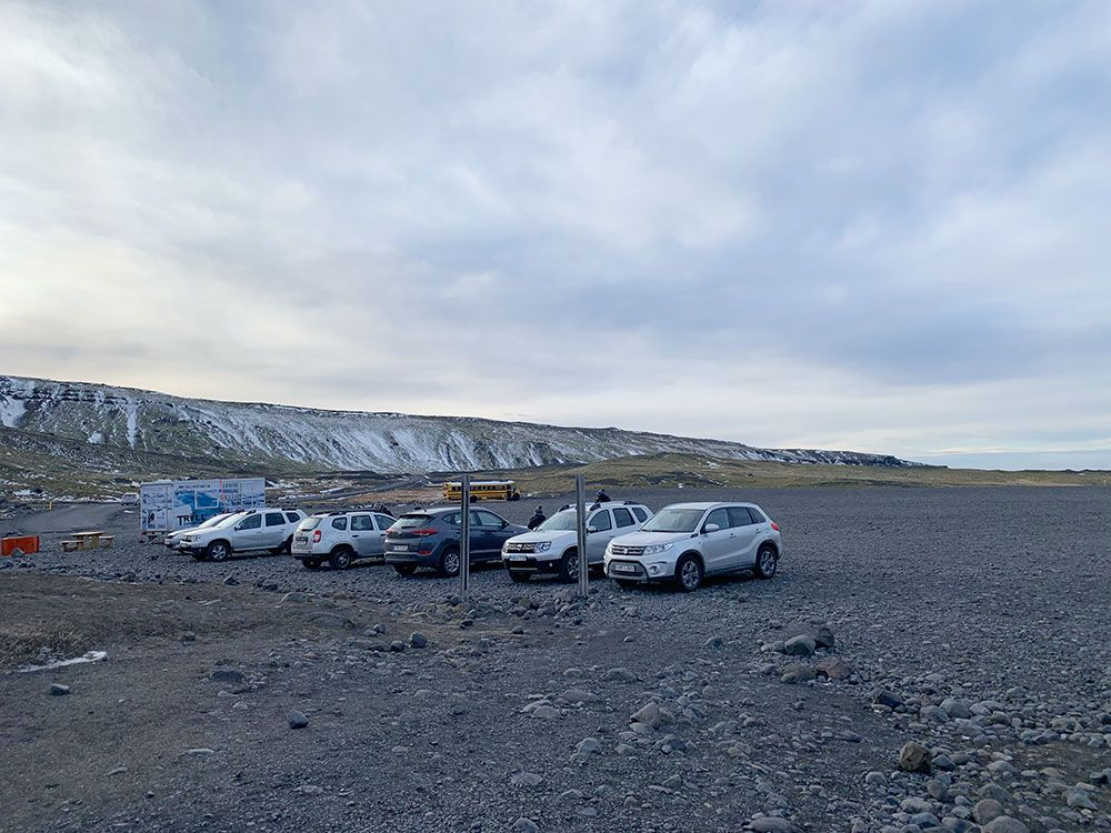 Senderismo por glaciares en Islandia - Sólheimajökull - Parking