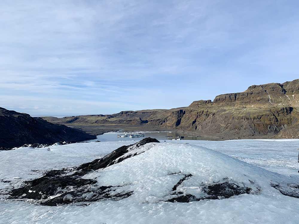 Senderismo por glaciares en Islandia - Sólheimajökull - Cima