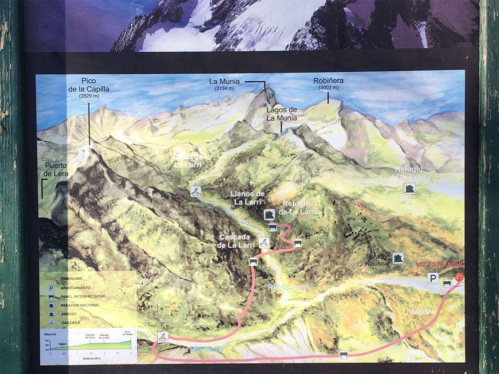 Subida a Los Llanos de La Larri - Senderismo La Pineta - Itinerario