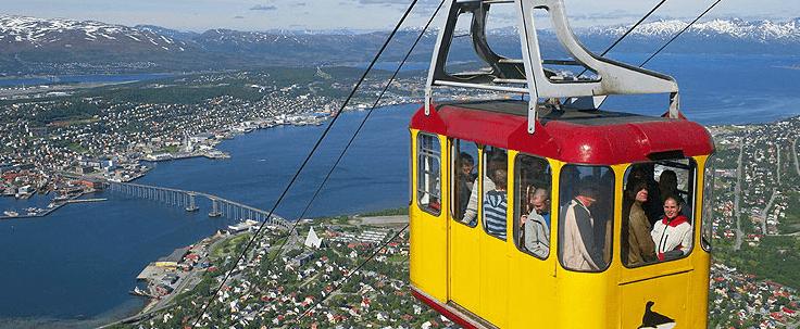 Teleférico de Fjellheisen, en Tromsø