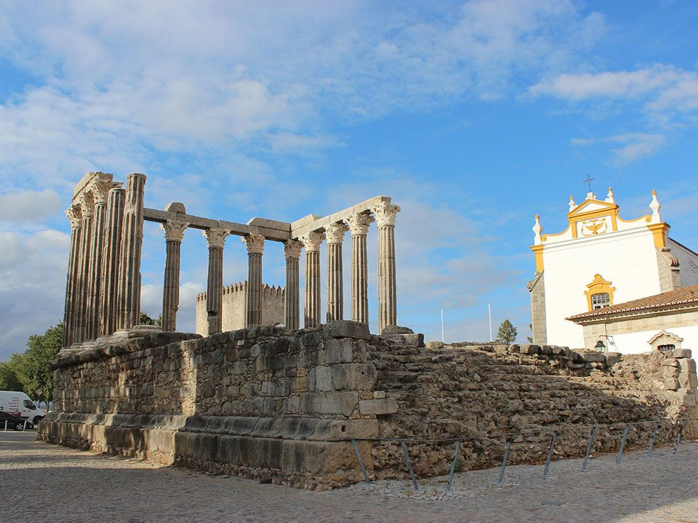 Huella romana en Évora