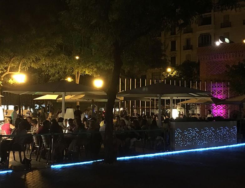 Terracita del restaurante Shukran