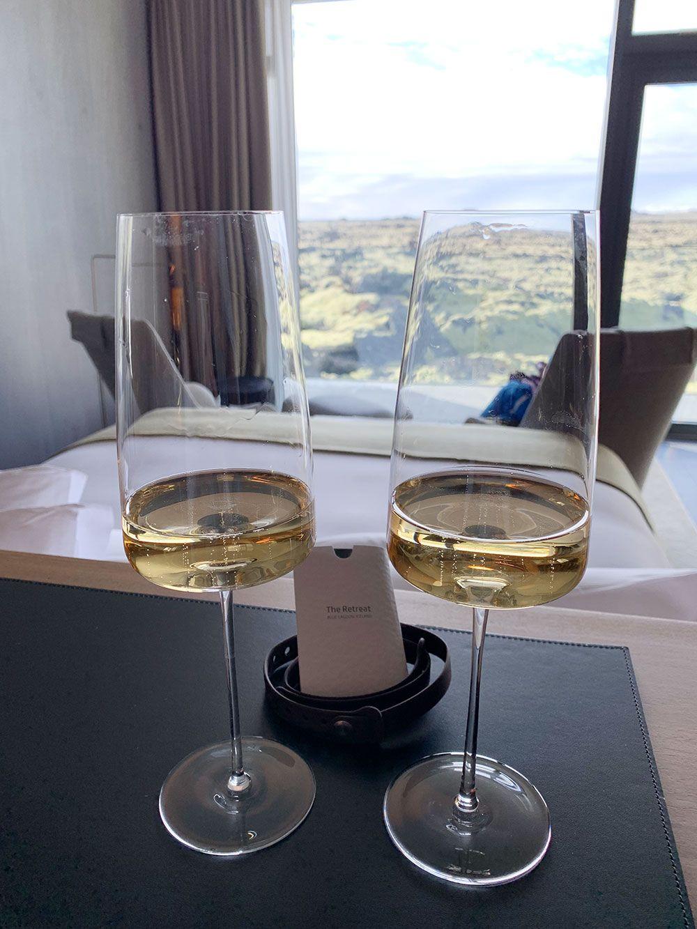 The Retreat Hotel - Blue Lagoon - Islandia - Copas de champagne