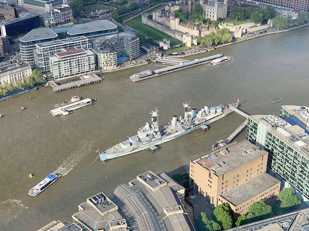 #ShardView del HMS Belfast