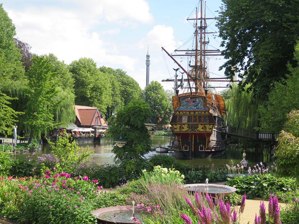 Parque de Atracciones Tivoli - Copenhague - Jardines