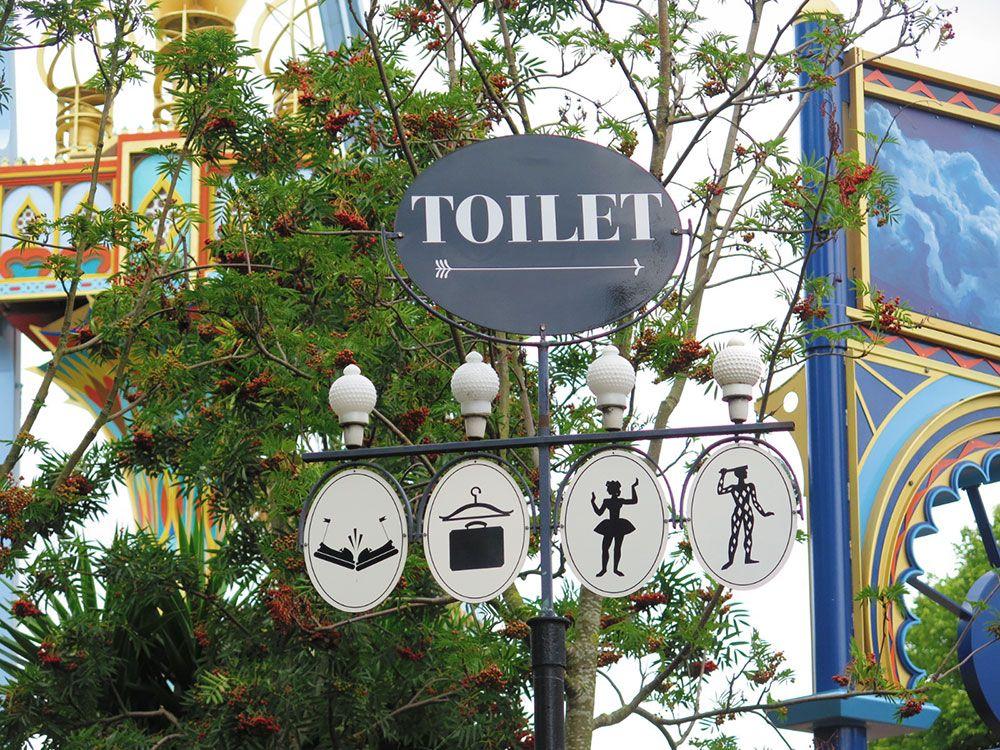 Parque de Atracciones Tivoli - Copenhague - Baño