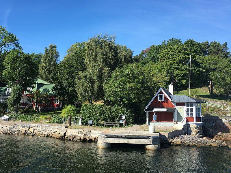 Tour en barco por el Archipiélago de Estocolmo - Coqueto embarcadero