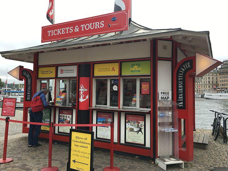 Tour en barco por el Archipiélago de Estocolmo - Caseta para comprar los tickets