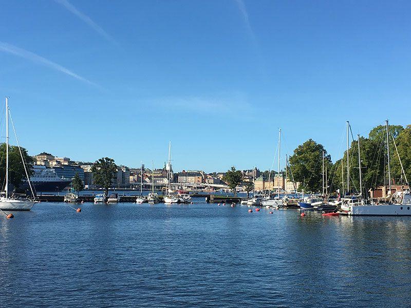Tour en barco por el Archipiélago de Estocolmo - Vista general de la ciudad