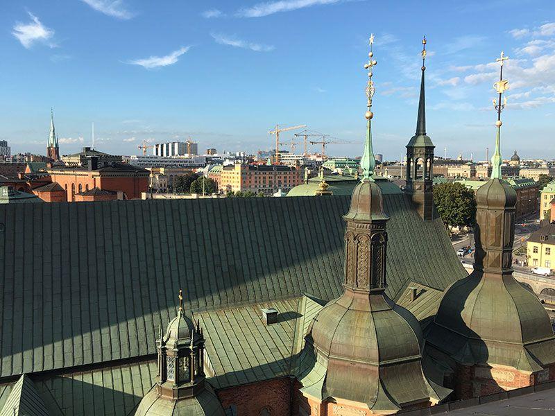 Tour por los tejados de Estocolmo - Torres de la iglesia