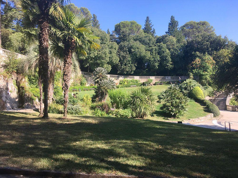 Escapadas en tren desde Barcelona al Sur de Francia - Nîmes - Les Jardins de la Fontaine