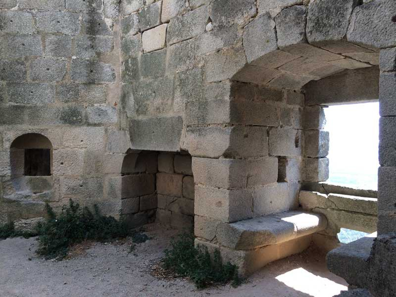 Interior del Castillo de Trevejo