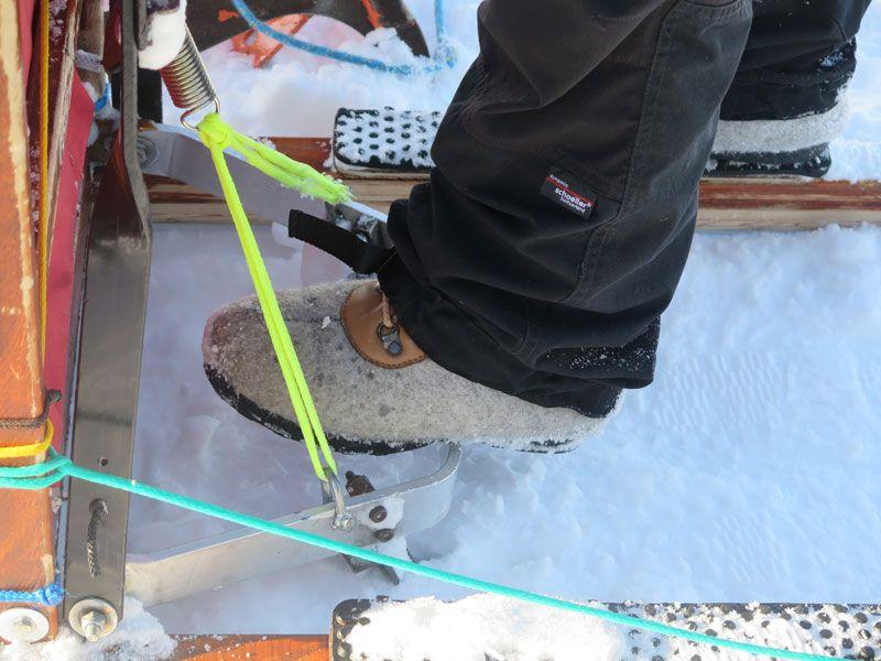 Trineo de perros en Noruega -Tromsø - Freno del trineo