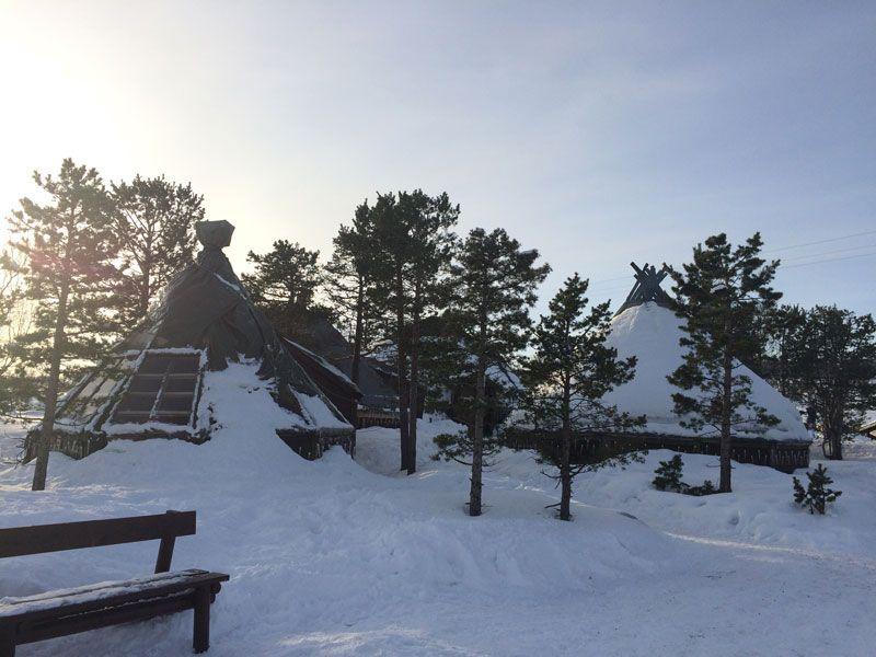 """Trineo de perros en Tromsø - Casetas donde se ofrece el """"lunch"""""""