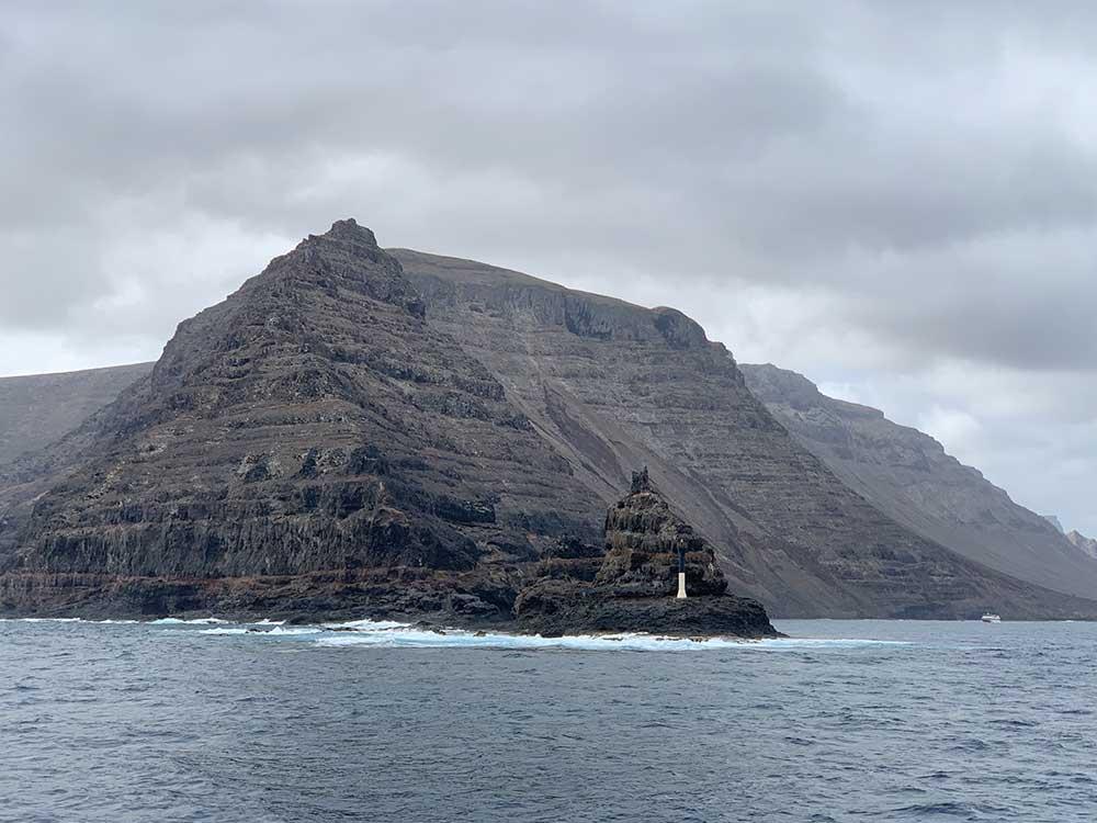 Navegando hacia la isla de La Graciosa
