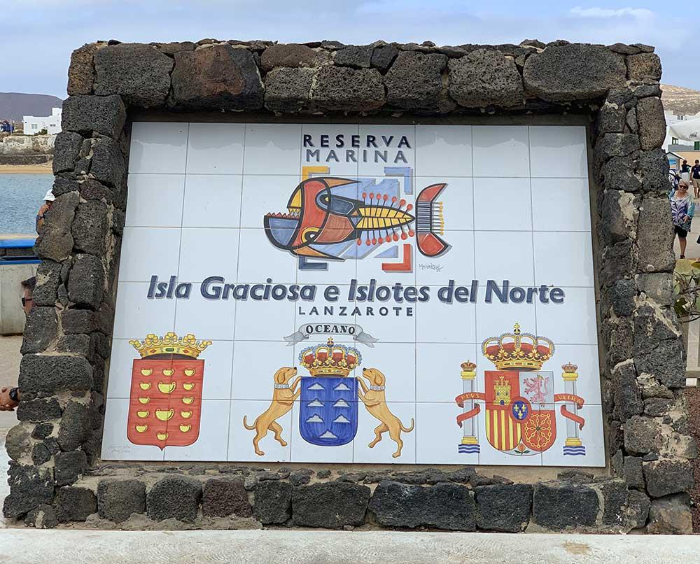 Isla de La Graciosa en las Islas Canarias