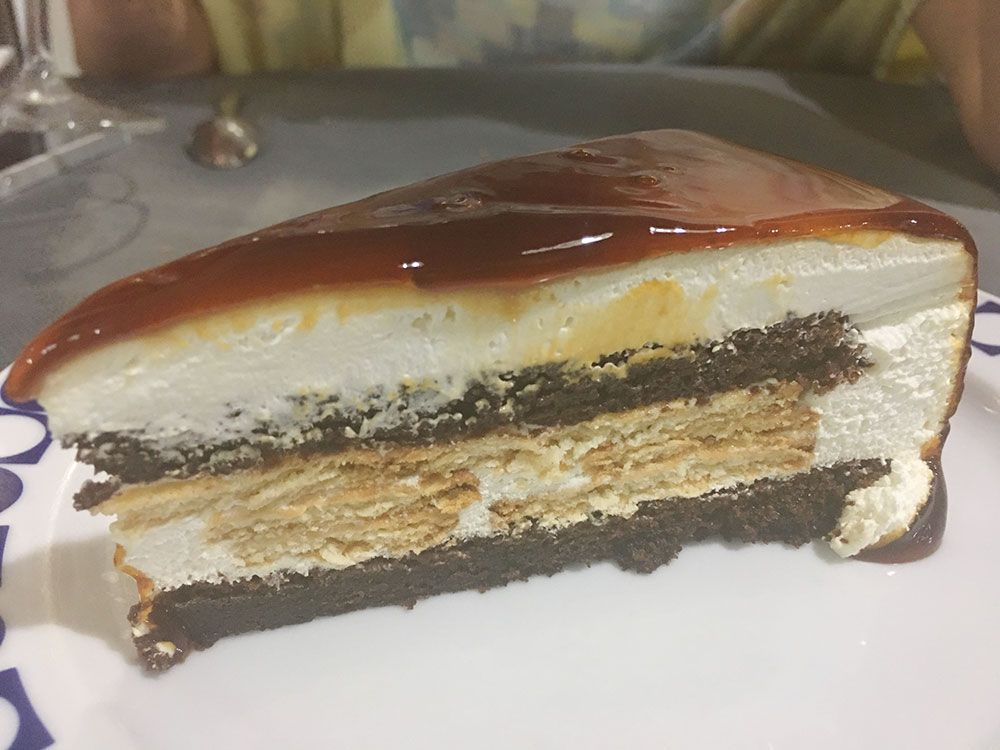 Valdoviño - Restaurante A Saiña - Tarta de galleta