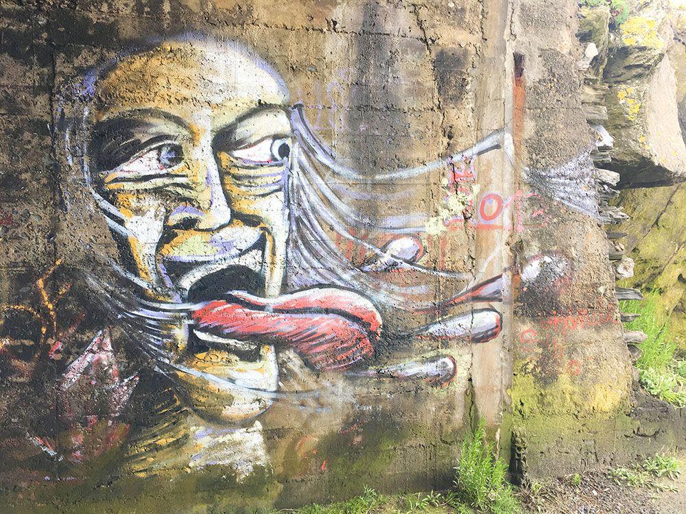 Valdoviño - A Coruña - Faro da Frouxeira - Graffiti