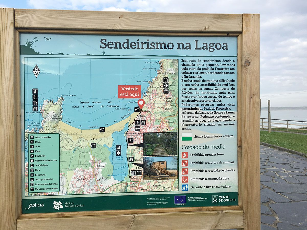 Valdoviño - A Coruña - Panel informativo senda