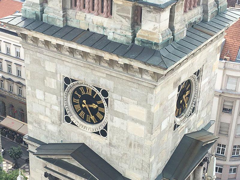 Visita a la Basílica de Budapest - Detalle de la torre